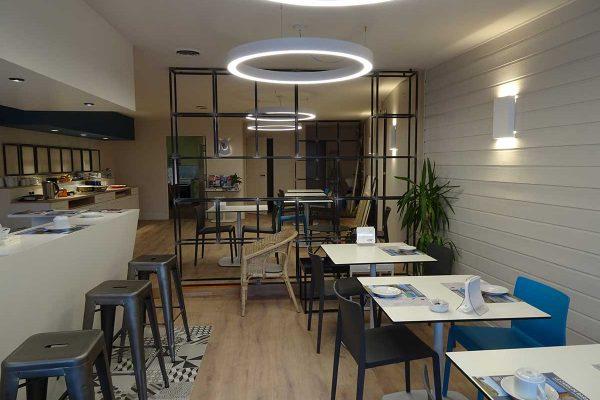 aménagement salle déjeuner hôtel du port Arte diem