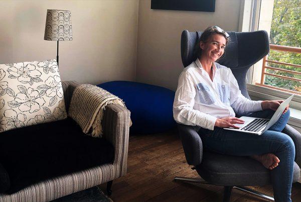 Un bureau à la maison en Bretagne
